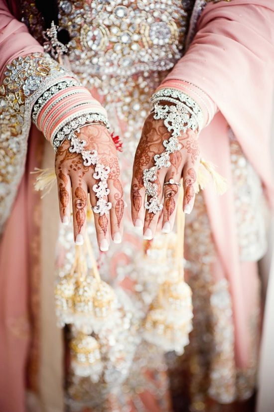 Jewelry and pink lengha. The Dulhan Diaries