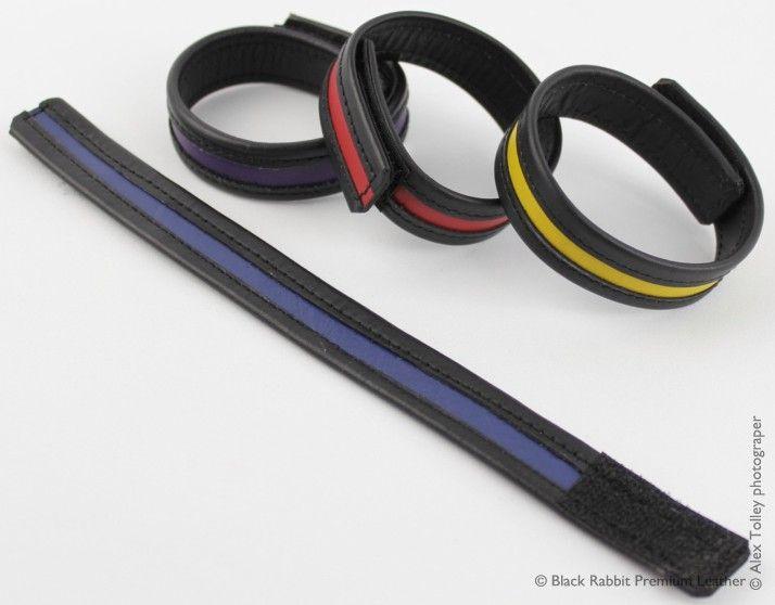 http://black-rabbit.com.au/cockrings/colour-stripe-leather-velcro-cockring/ Colour Stripe Leather Velcro Cockrings available in several leather colours #cockstraps #cockrings #blackrabbitpremiumleather
