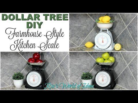 DOLLAR TREE DIY FARMHOUSE STYLE KITCHEN SCALE | RA…