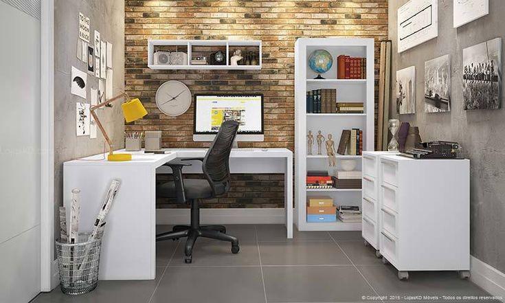 Feira De Artesanato Zona Sul ~ Conjunto Home Office com Escrivaninha Mesa, Armário nicho