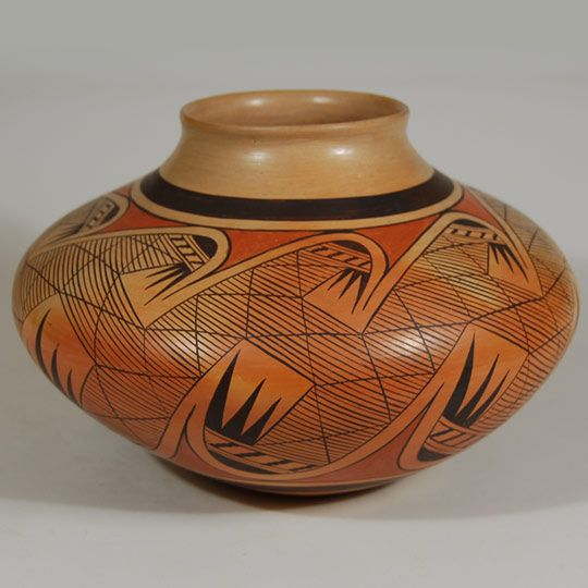 Hopi Migration Pattern Jar by Fannie Polacca Nampeyo