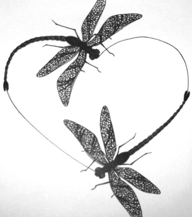 Dragonfly tattoo...just logged into pinterest and this was the first thing I saw...won't ever get one, but it reminds me of Damon