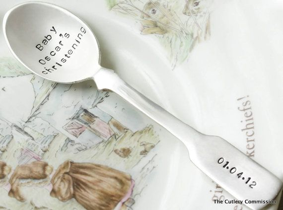 Personalised Silver Plated Christening by TheCutleryCommission