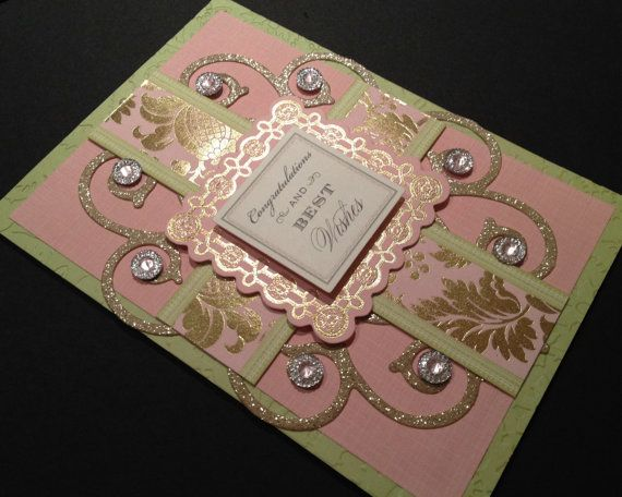 Fancy Congratulations and Best Wishes Card by PinkPetalPapercrafts