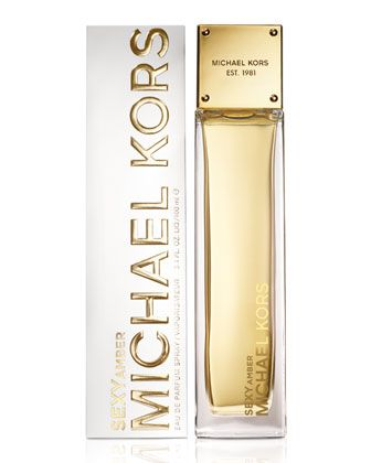 Michael Kors Sexy Amber Eau de Parfum Spray 3.4 oz, 100 ml-fragrance is warm amber wrapped in sandalwood layered with white flowers, amber/sandalwood/jasmine (nice fragrance)