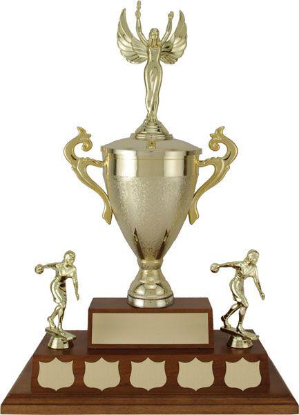 Largo Cup on a Walnut Finish Base