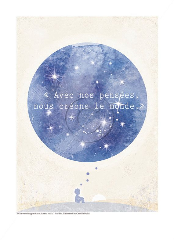Buddha quote 85x11 With our thoughts we par camillebellet, $19.50