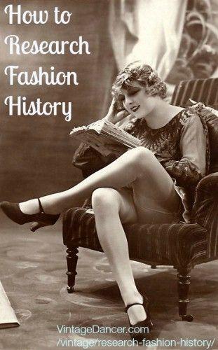 How to Research Fashion History  #fashion #fashionhistory http://www.vintagedancer.com/vintage/research-fashion-history/