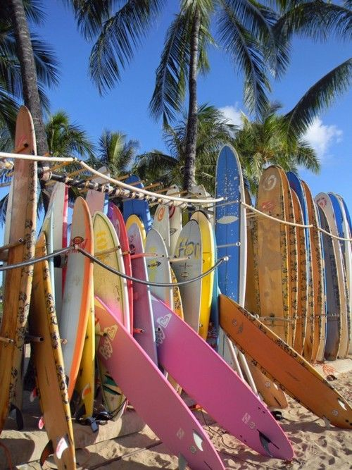 Oahu, Hawaii -- possibly in front of Moana Surfrider.  Have a pic like this from there.