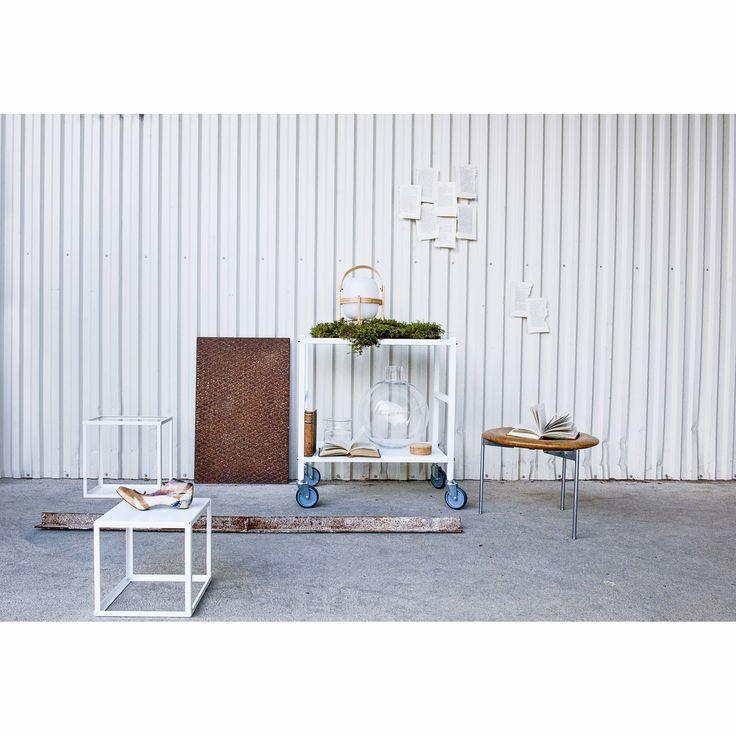 Domo Square sofa table, white – Domo #interior #design #scandinavian