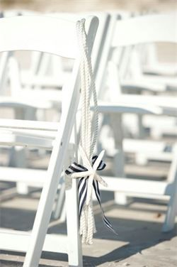 Nautical Wedding Ideas for the Ceremony - Starfish chair decoration