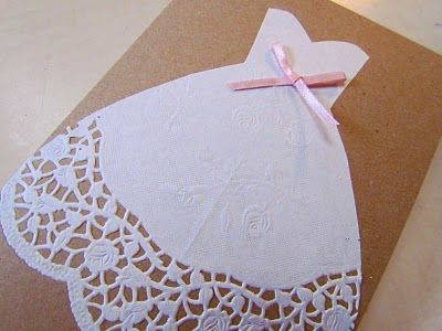 tut for dress doily card