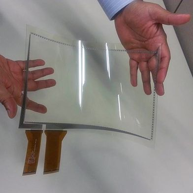Nanomaterials Could Enable Large, Flexible Touch Screens |  3M's new silver nanowire films could lead to large, interactive, and ultimately flexible displays.