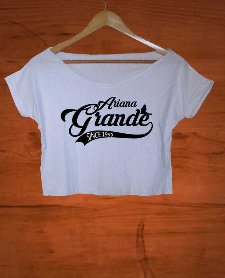 ariana grande crop top ariana grande crop tee ariana grande shirt AG03 #Handmade #BasicTee