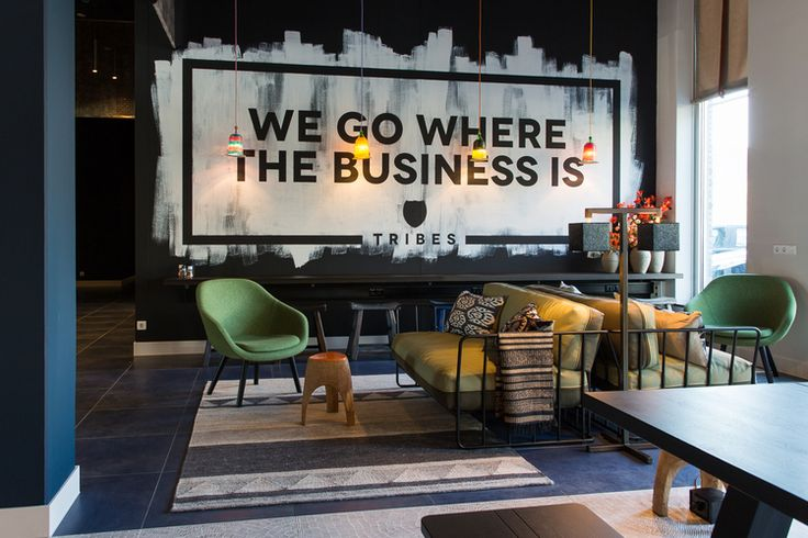 Interior design Tribes mobile office by AbrahamsCrielaers - signage in restaurant - casual working area