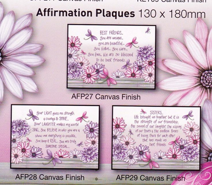 AFFIRMATION PLAQUES - $15 EACH + $6.95 post