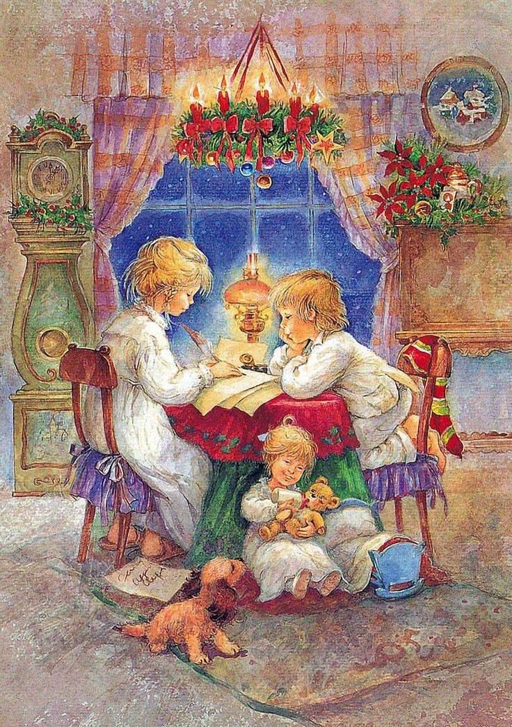 Рождество открытки художника, картинки