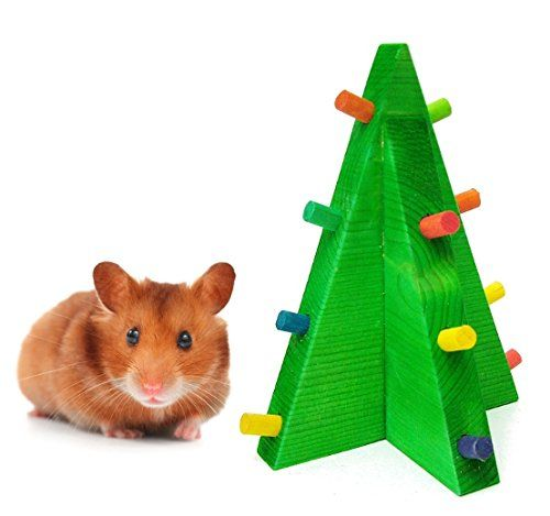 Christmas Tree Hamster Chew Toy - Hamster Christmas Toys Timali Pet Rabbit Toys