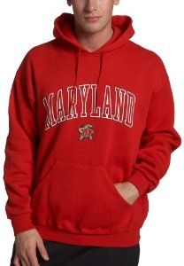 NCAA Maryland Terps Hoodie With Arch and Mascot by Soffe. $29.00
