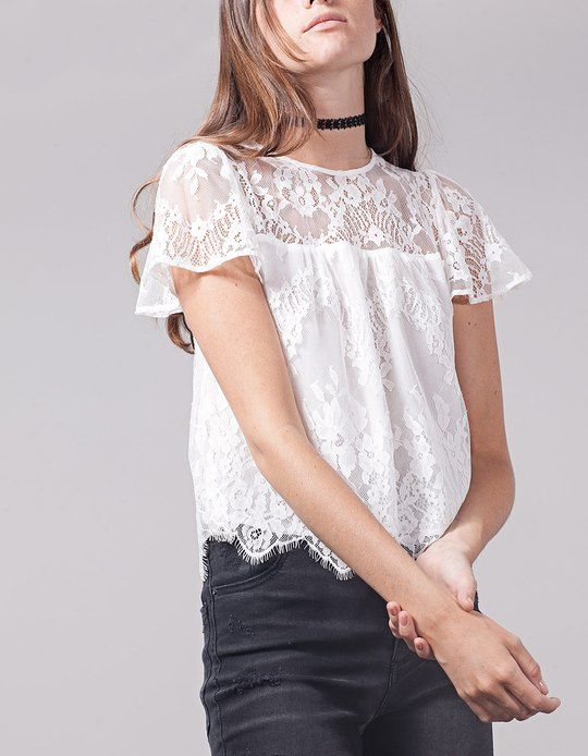 At Stradivarius you'll find 1 Lace top for woman for just 599 Ukraine . Visit now to discover this and more VIEW ALL.