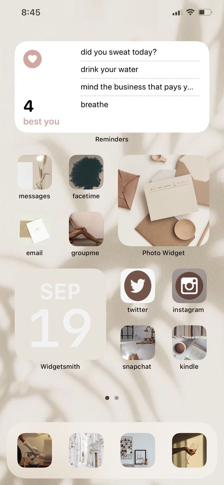 "Champagne Pammy 🥂 on Twitter: ""Took a minute but I'm satisfied! #ios14homescreen… """
