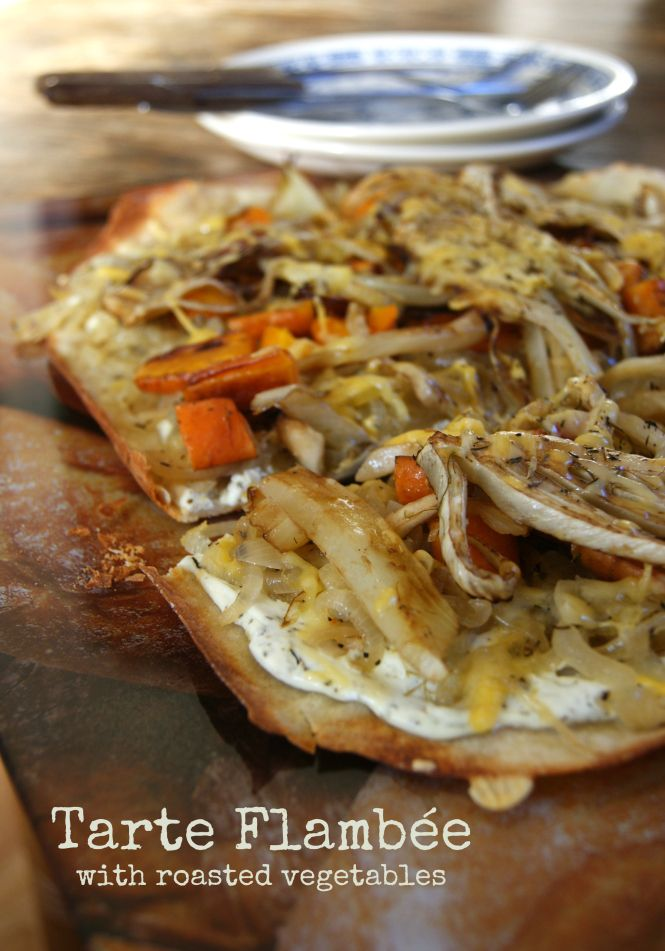 Tarte Flambée (with roasted vegetables) – The imperfect writings
