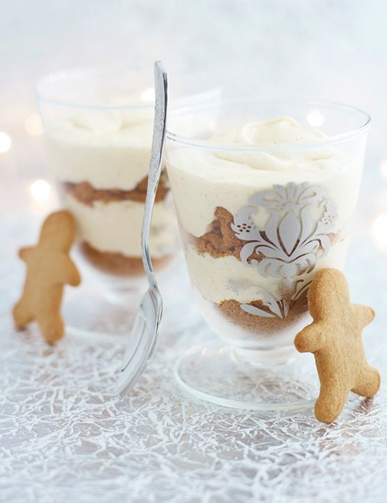 Gingerbread and white chocolate mousse