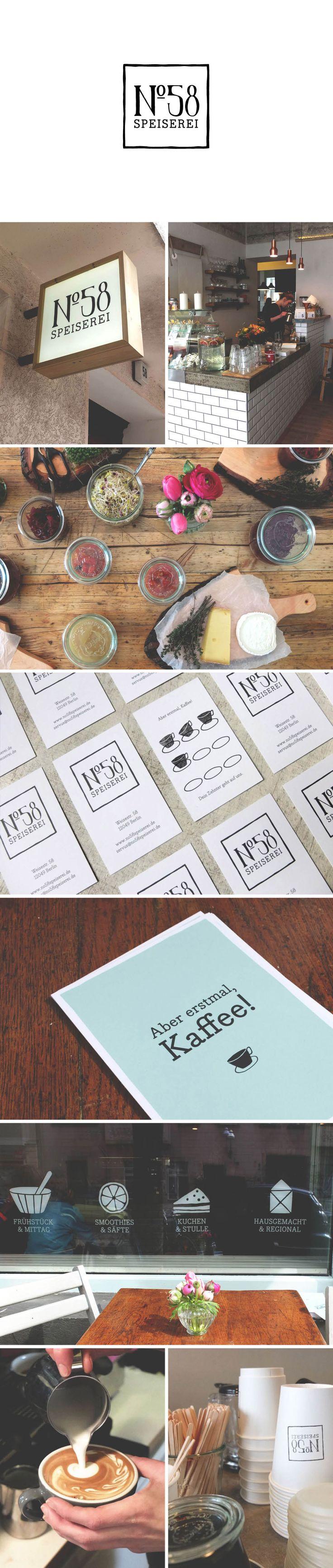 Branding by Farina Kuklinski for 'N°58 Speiserei' #identity #branding