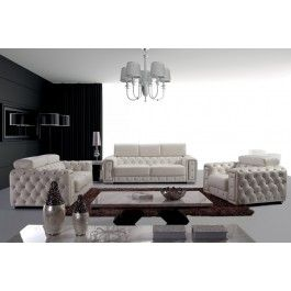 Lumy Modern Tufted Leather Sofa Set - #sectionalsofa #sectionals #couches #Furnituredesign #HomeDecor #leathersofa #leathersofas  #leathercouches