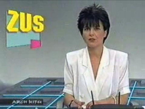 Photo from Polish television before 1989.