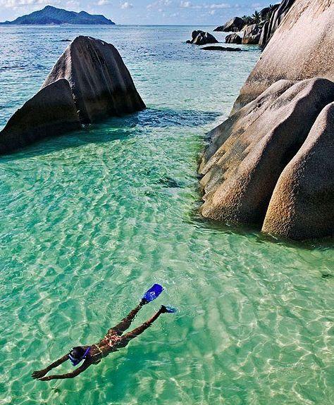 Snorkelling, Seychelles. #travelnewhorizons