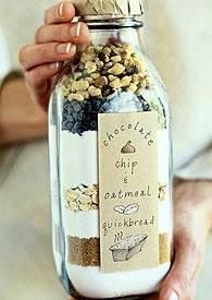 A cute alternative to cookies in a jar--quick bread in a bottle. Use  Avery labels and free printables to design your own label at avery.com/print.