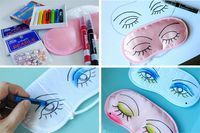 Sleepover ideas | go make me} fun eye mask / diy project | Spa Party