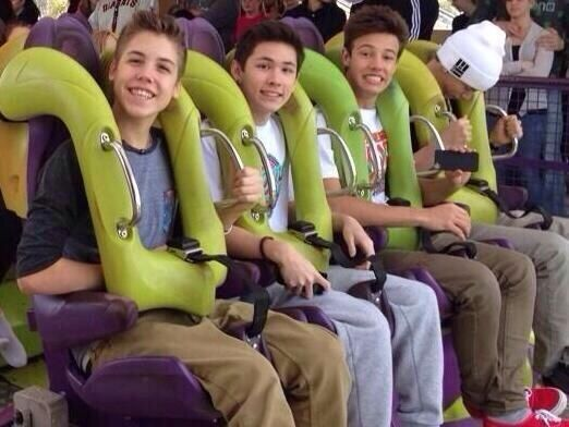 Matthew Espinosa, Carter Reynolds, Cameron Dallas, and Taylor Caniff