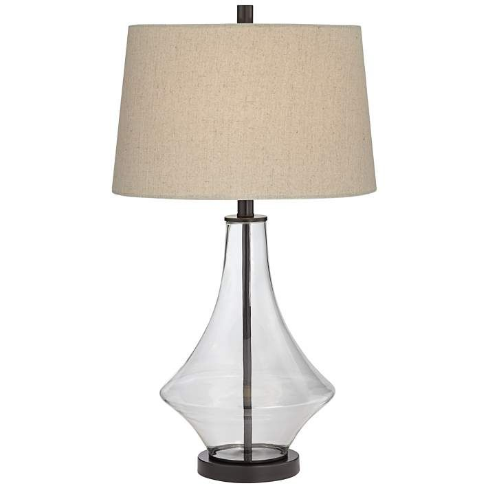 Clear Glass Table Lamp Base Glastischlampe Flaschenlampe Lampe