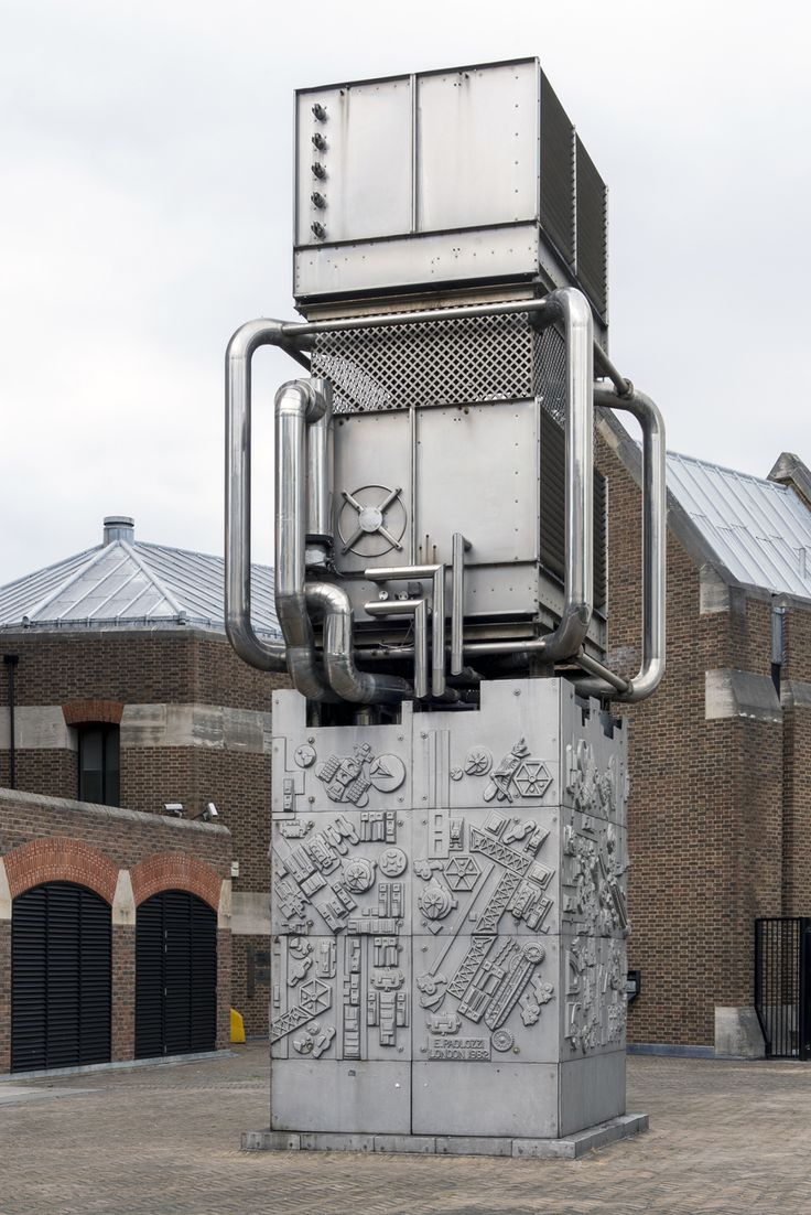 . Ventilation Shaft Cover by Eduardo Paolozzi, 1982, London. Listed Grade II