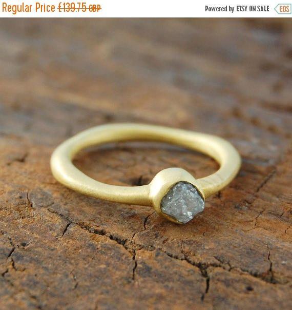 AUF Verkauf jetzt roh-Diamant-Ring Goldring einzigartigen