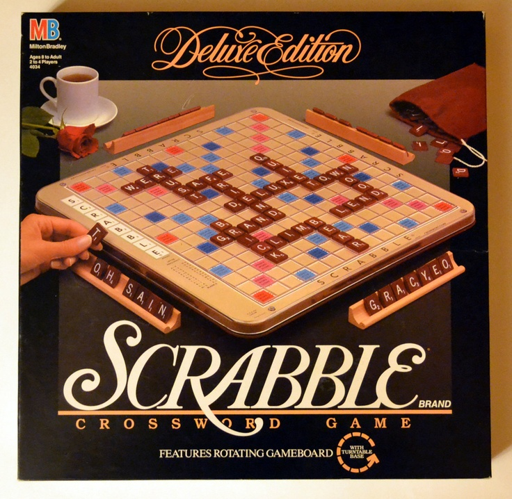 scrabble deluxe edition with storage turntable style board. Black Bedroom Furniture Sets. Home Design Ideas