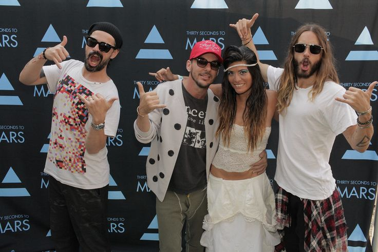 Shakas from 30 Seconds to Mars and Veronica Grey