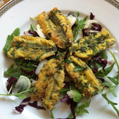 La mia cucina persiana: Alici Fritte allo Zafferano ed Erbe Aromatiche