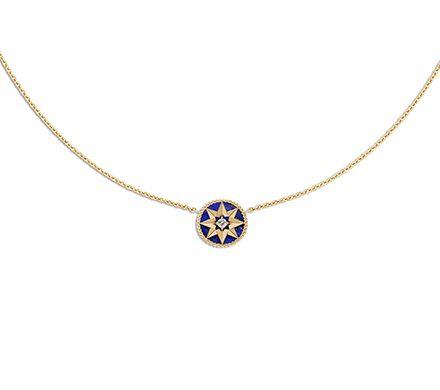 Collier DIOR Rose des vents - lapis lazuli, or jaune et diamant