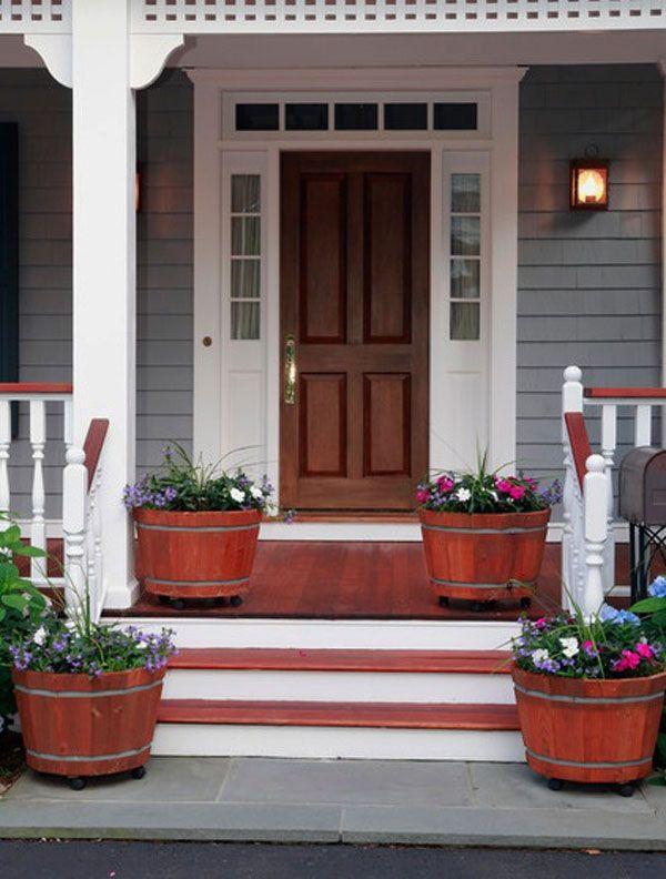 Just make the door red and the trim gray  30 Front Door Ideas and Paint  Colors for Exterior Wood Door Decoration or Home Staging109 best Front door design images on Pinterest   Front doors  . Paint Exterior Door Or Trim First. Home Design Ideas