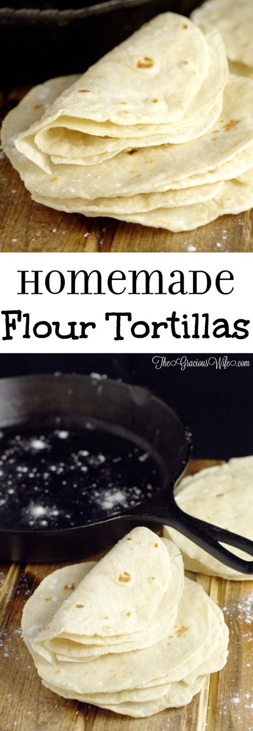 Easy Homemade Flour Tortillas Recipe - frugal and way more delicious than store-bought tortillas.    cooking tips
