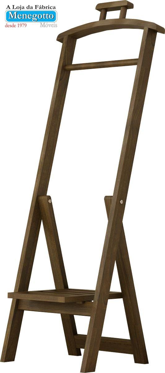 (1) Cabideiro;porta Terno,mancebo,cabide,arara De Roupas,madeira - R$ 199,00 no MercadoLivre