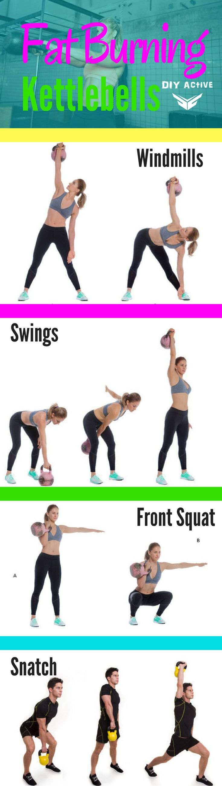 Improve Your Strength With This Kettlebell Workout via @DIYActiveHQ #kettlebelll #workout