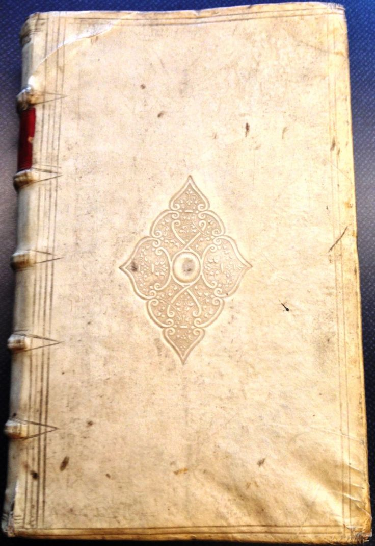 Liber qvintvs receptarvm sententiarvm integer (1604) in contemporary vellum with embossed ornaments and red leather label on the spine