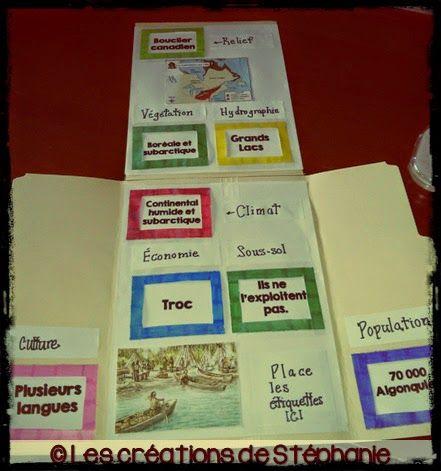 Lapbook : Les Algonquiens vers 1500 (Les créations de Stéphanie)