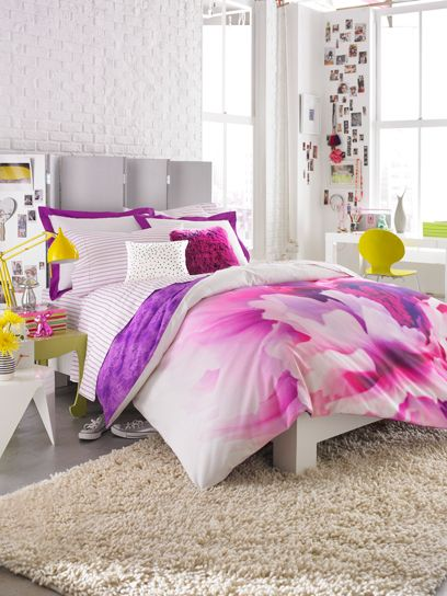 Brights working together, youthful room decor from Teen Vogue
