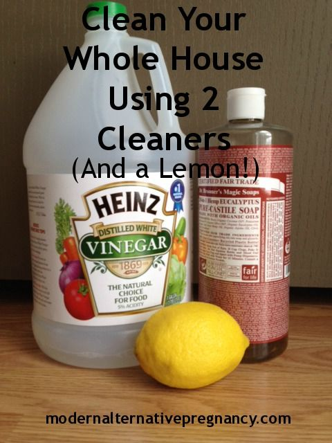 How to Clean Your Whole House Using 2 Cleaners (And a Lemon!) | Modern Alternative Pregnancy