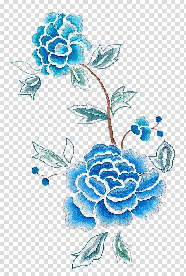 Blue Petal Flower Flower Illustration Flower Painting Floral Design Drawing